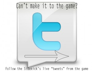 "Follow Sidekick's live ""tweets"" from tonight's game!"