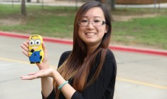 Staff Writer Annie Wen takes her byline to Baylor University. Photo by Shannon Wilkinson.