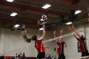 Colleyville Heritage volleyball defeats Cowgirls in four games