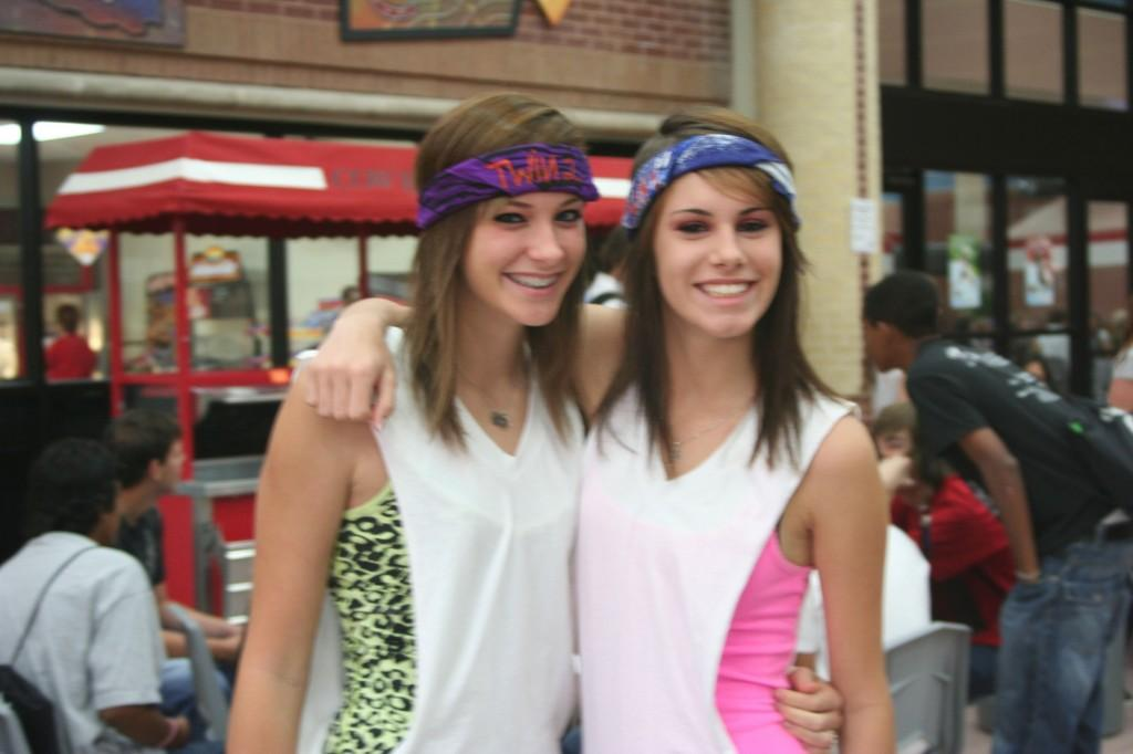 Students dressed up as twins on Friday to show their support. (Photo by Mary Whitfill)