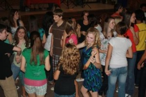 Freshman spend a Saturday night at the school dancing and having fun at the Freshman Social. Photo by Kelly Emerson.