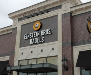 The new Einstein Bros. Bagels on S. Denton Tap Rd. Suite 100. Stop by to grab a Power Protein Bagel to start your weekend off right and a Doggie Bagel to bring home to your pooche. Photo by Mia Ford.