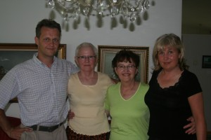 (From left to right) My father, my great aunt, my grandmother, and my dad's cousin sharing smiles at my great aunt and uncle's house in Oulu, Finland during my family vacation to Finland in the summer of 2006.