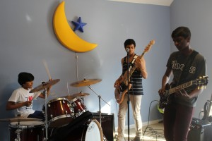 Flood the Walls rehearse for their upcoming performance on April 5th at The Door Dallas.