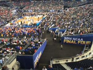 Coppell High School senior John Loop attended the 2014 NCAA Men's Basketball Final Four on April 5-7 at AT&T Stadium in Arlington. Photo by John Loop