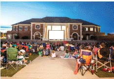 This Saturday, the City of Coppell will air E.T. in the Town Center Plaza. The film was chosen for this upcoming Movie Night in the Plaza in spirit of Halloween. Photo credit The City of Coppell.