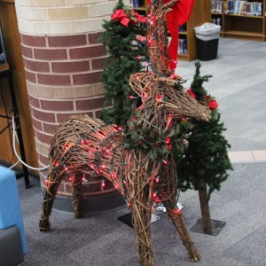 Coppell High School library put up a reindeer decoration in spite of the upcoming break and holidays. It is located near the front as soon as you walk in to spread Christmas cheer.
